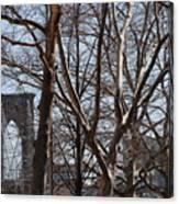 Brooklyn Bridge Thru The Trees Canvas Print