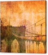 Brooklyn Bridge Vintage Canvas Print