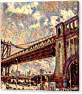 Brooklyn Bridge Watercolor Canvas Print