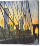 Brooklyn Bridge Wires Canvas Print