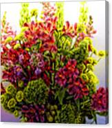 Brooklyn Sidewalk Flower Sale Canvas Print