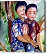 Brothers Bonding Canvas Print