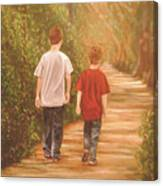 Brothers Into The Woods Canvas Print