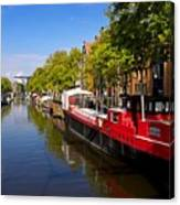 Brouwersgracht Canal In Amsterdam. Netherlands. Europe Canvas Print