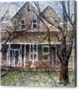 Brown Batik House Canvas Print
