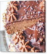 Brown Chocolate Cake Canvas Print