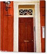Brown Door Canvas Print