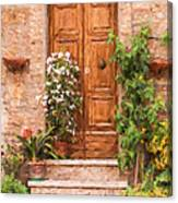 Brown Door Of Tuscany Canvas Print