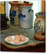 Brown Eggs And Ginger Jars Canvas Print
