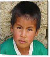 Brown Eyed Bolivian Boy Canvas Print