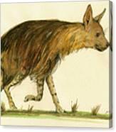 Brown Hyena Animal Art Canvas Print