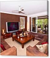 Brown Living Room Canvas Print
