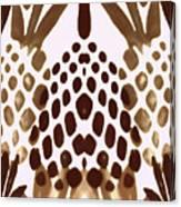 Brown Pineapple Canvas Print