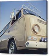 Brown Vw T2 Camper Van Canvas Print