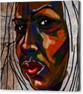 Brown Woman On Stone Canvas Print
