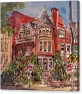 Brownstone On Corcoran Street Canvas Print