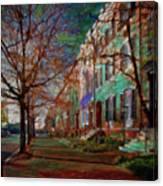 Brownstones At Lafayette Park Canvas Print