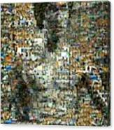 Bruce Lee Mosaic Canvas Print
