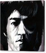 Bruce Lee Portrait Canvas Print