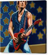 Bruce Springsteen The Boss Painting Canvas Print