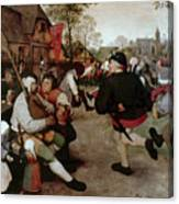 Bruegel, Peasant Dance Canvas Print