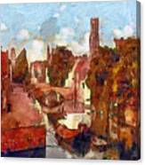 Bruges Canal View Canvas Print