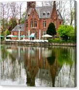 Bruges Kasteel Minnewater Canvas Print