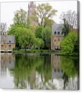 Bruges Minnewater 3 Canvas Print