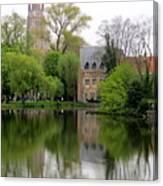 Bruges Minnewater 4 Canvas Print