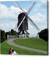 Bruges Windmill Canvas Print