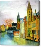 Brugge Belgium Canal Canvas Print