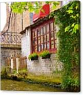 Bruge Canal Canvas Print