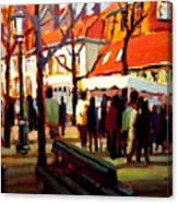 Brugg's Market Canvas Print