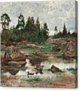 Bruno Liljefors,   Landscape From Uppland Canvas Print