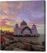 Brush Stroke Cloud Over Selat Mosque Canvas Print