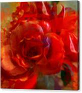 Brushed Flowers Canvas Print