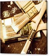 Brushes Of Interior Decoration Canvas Print