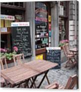 Brussels - Restaurant Chez Patrick Canvas Print
