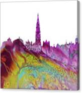 Brussels City Skyline 2 Canvas Print