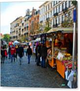 Brussels Market Canvas Print
