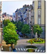 Brussels Row Canvas Print