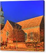 Bruton Parish Church In The Warm Autumn Afternoon Sunlight 6477tmt Canvas Print