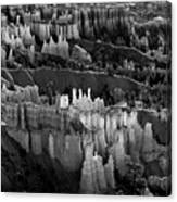 Bryce Canyon In Black And White Canvas Print
