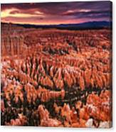 Bryce Canyon Sunset Canvas Print