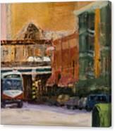 Bryn Mawr Edgewater El Stop Canvas Print