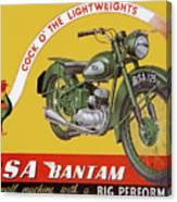 Bsa Bantam Motorcycle Canvas Print