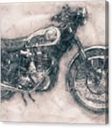 Bsa Gold Star - 1938 - Motorcycle Poster - Automotive Art Canvas Print
