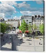 Georges Pompidou Square Canvas Print