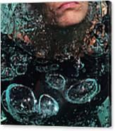 Bubble Maker. Lady Diver Canvas Print