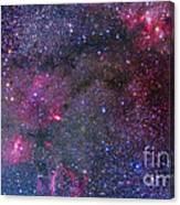 Bubble Nebula And Cave Nebula Mosaic Canvas Print